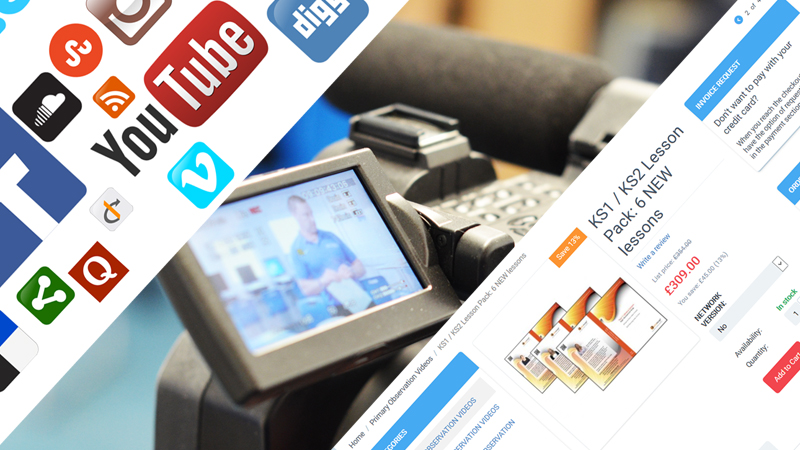 Digital marketing and video production banner by Mediamerge