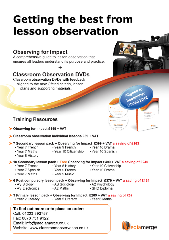 Classroom observation print advertising
