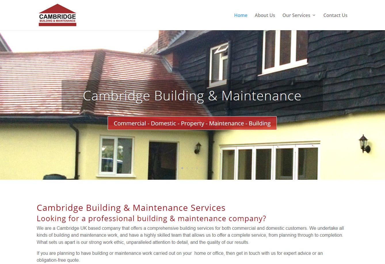Cambridge Building website by Mediamerge